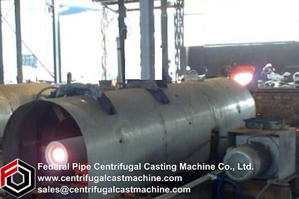 Single Station 3-Meter Iron Pipe Centrifugal Casting Machine