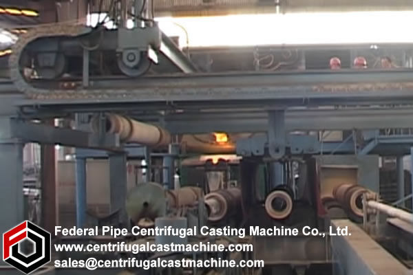 Multi Station Iron Pipe Centrifugal Casting Machine