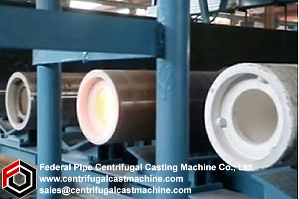 Multi Station Iron Pipe Centrifugal Casting Machine 2