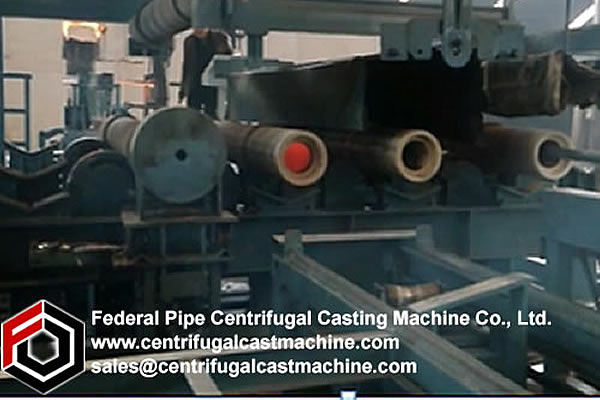 Multi Station Iron Pipe Centrifugal Casting Machine 4