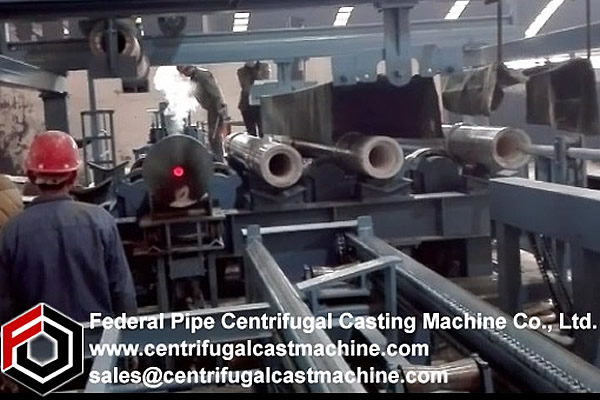 Multi Station Iron Pipe Centrifugal Casting Machine 5
