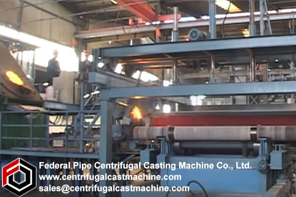 Multi Station Iron Pipe Centrifugal Casting Machine 7