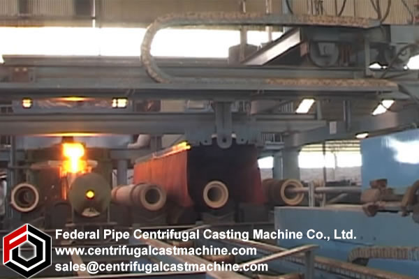 Multi Station Iron Pipe Centrifugal Casting Machine 8