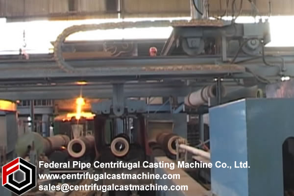 Multi Station Iron Pipe Centrifugal Casting Machine 9