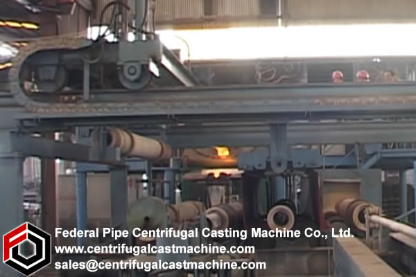 Multi Station Iron Pipe Centrifugal Casting Machine 10