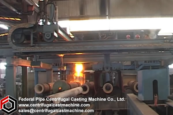 Multi Station Iron Pipe Centrifugal Casting Machine11