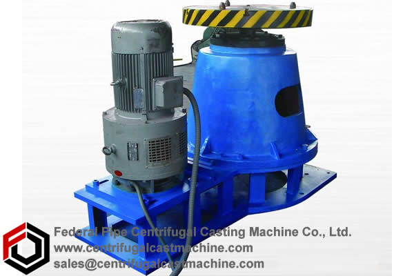 Floor-mounted vertical centrifugal casting machines