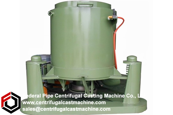 Frame-mounted vertical centrifugal casting machines.