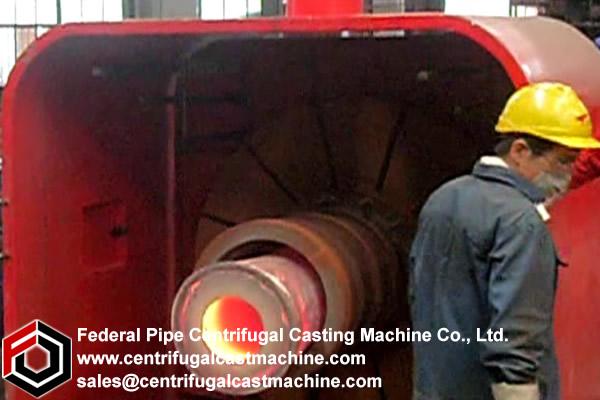 Horizontal drum Centrifugal casting machine