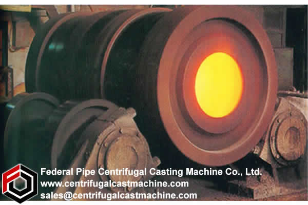 centrifugal casting machine belonging to the technical