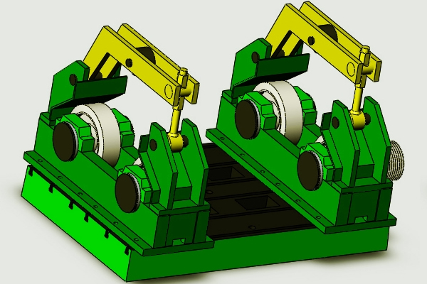 Horizontal Centrifugal Casting Machine 3D Drawing2