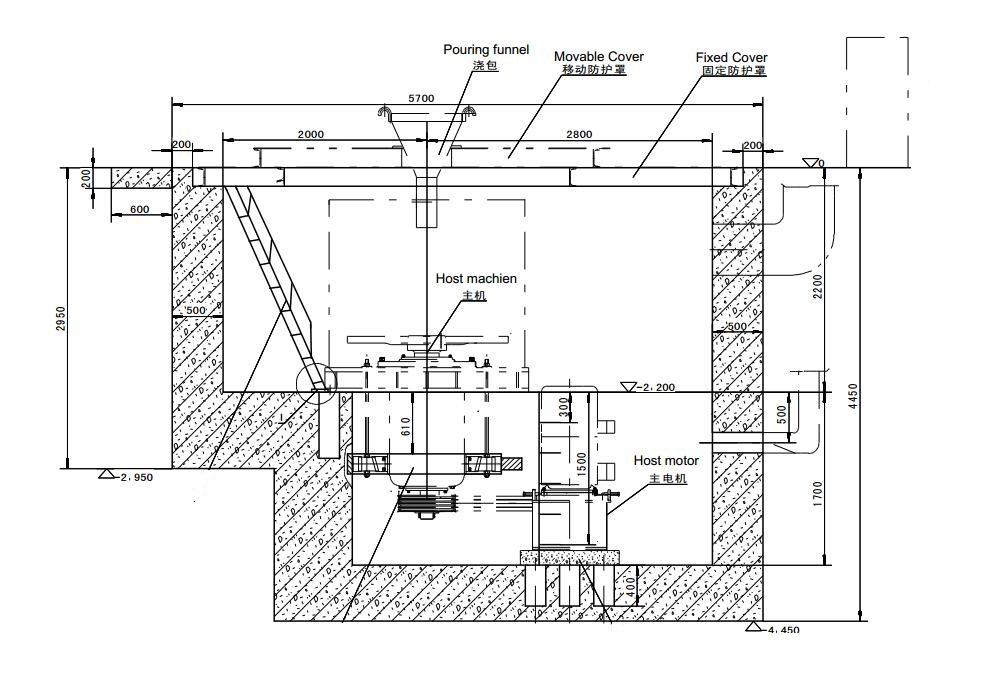 Semi-automatic vacuum centrifugal casting machine