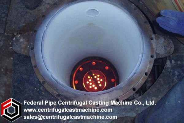centrifugal casting methods were adopted for  manufacturin