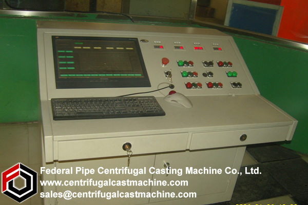 roller-supporting horizontal centrifugal casting machine